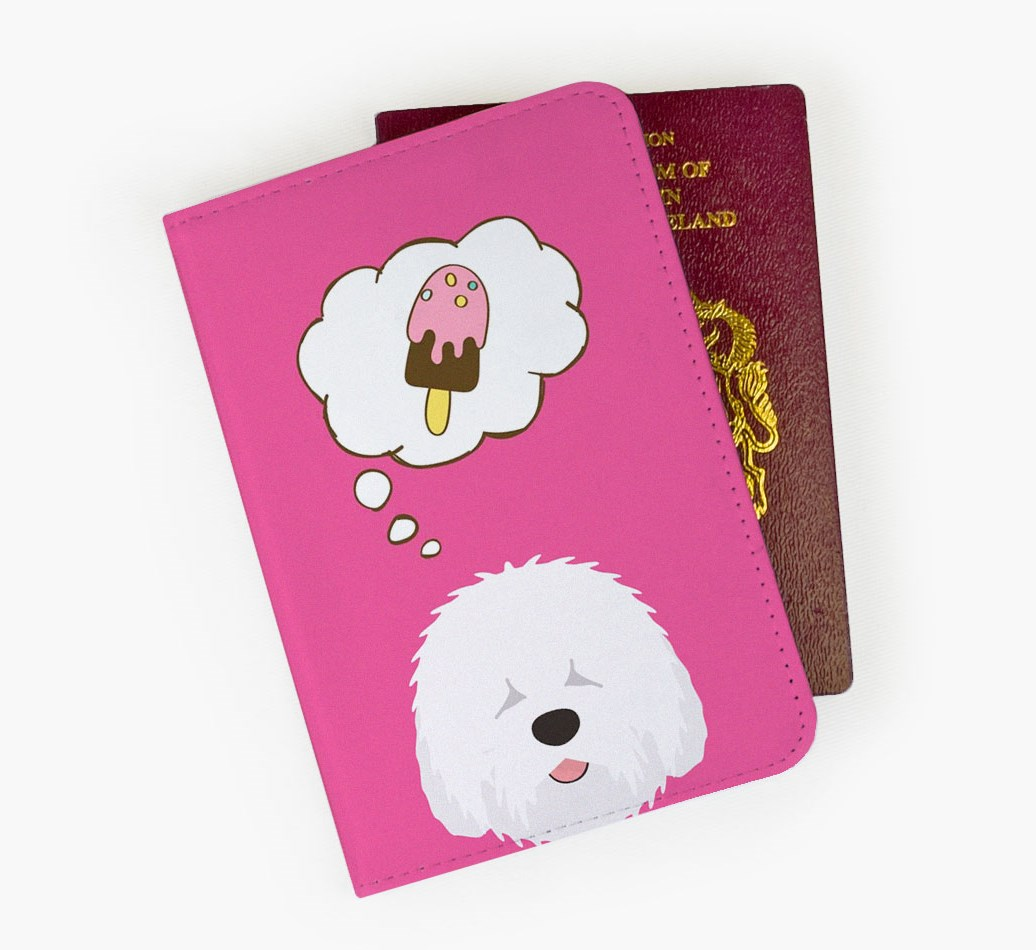 Old English Sheepdog Passport Cover Front