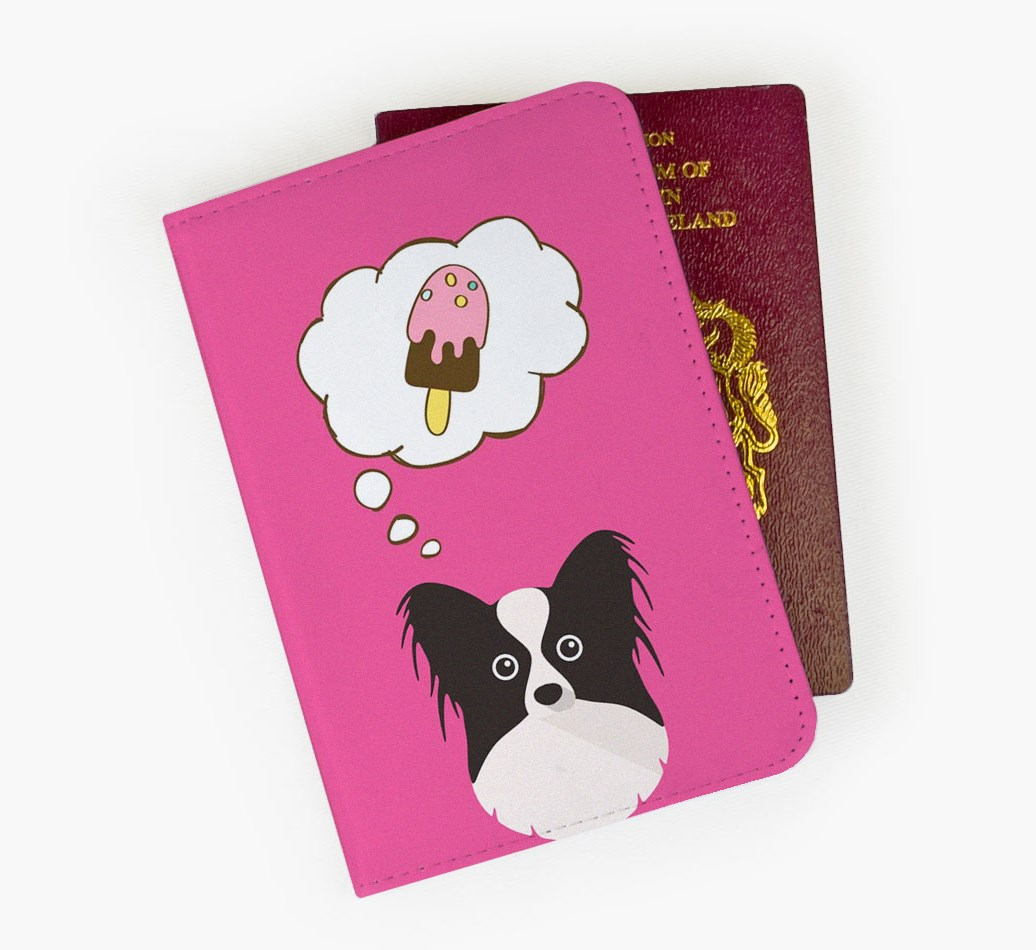 Papillon Passport Cover Front