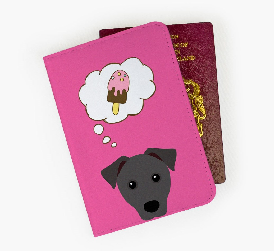 Patterdale Terrier Passport Cover Front