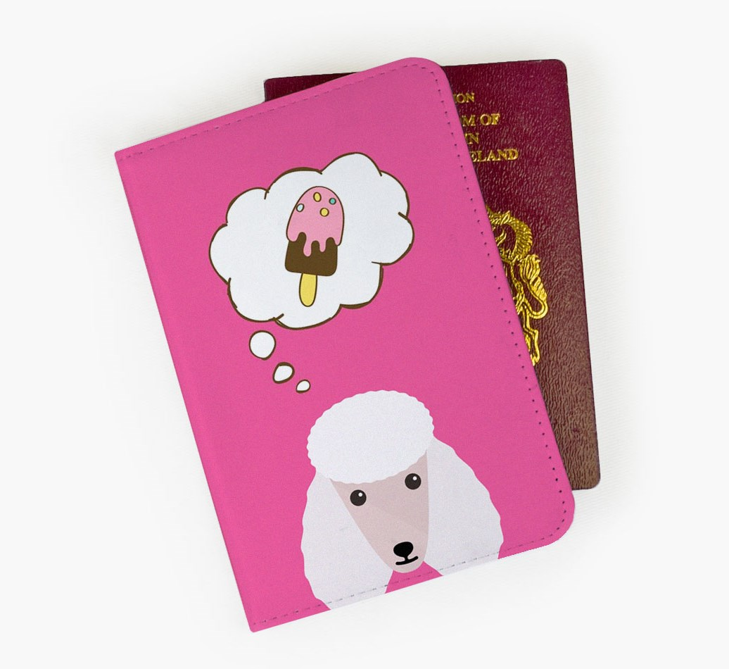Poodle Passport Cover Front