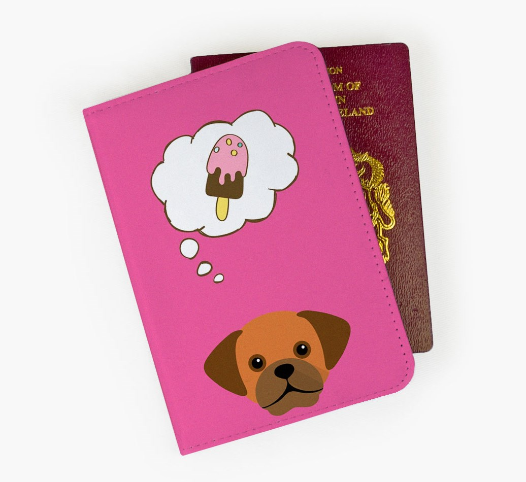 Puggle Passport Cover Front