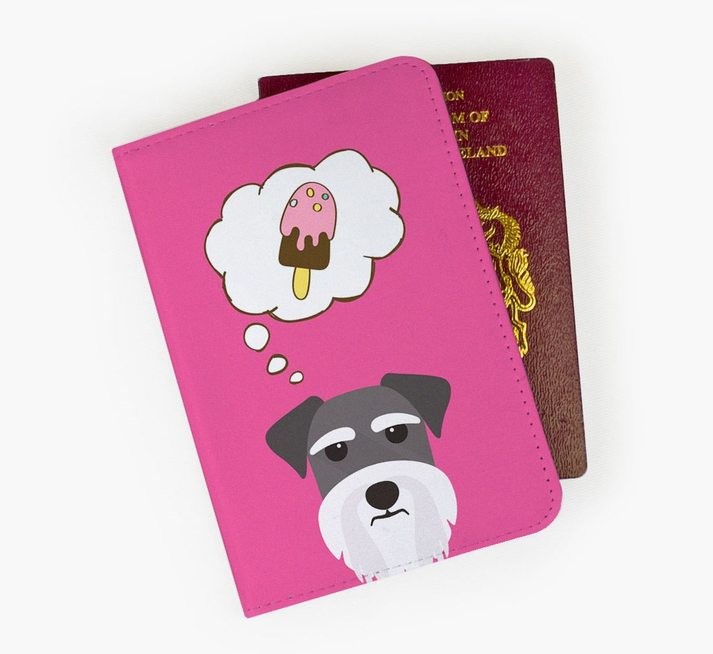 Schnauzer Passport Cover Front