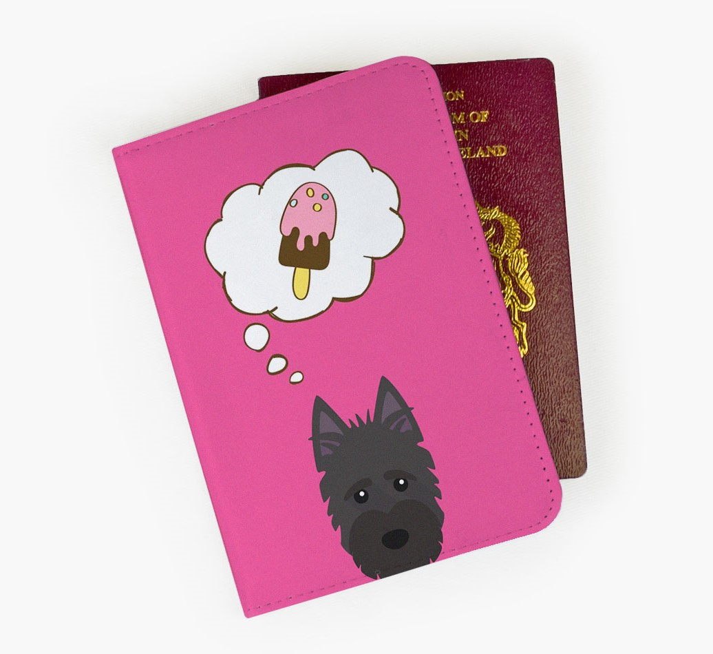 Scottish Terrier Passport Cover Front