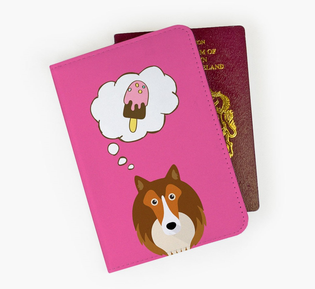 Shetland Sheepdog Passport Cover Front