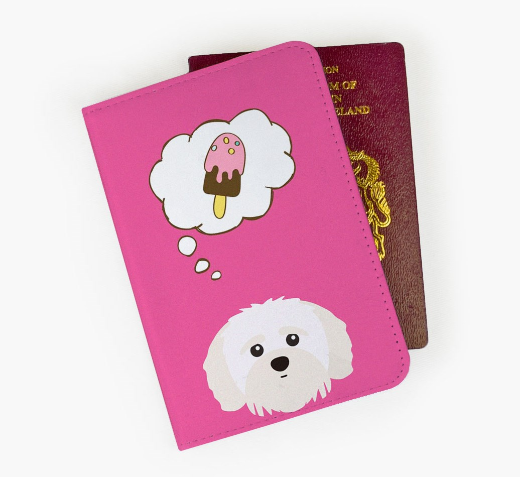 Shih-poo Passport Cover Front