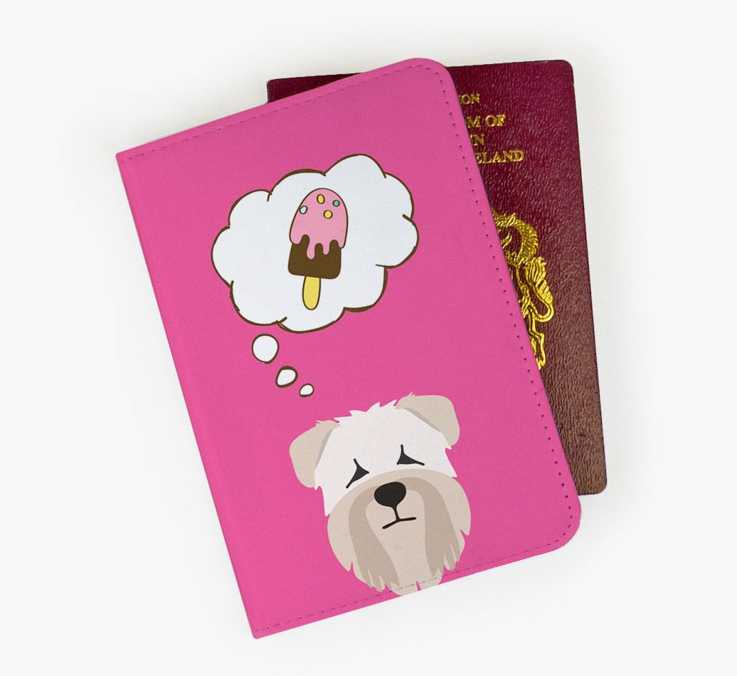 Soft Coated Wheaten Terrier Passport Cover Front