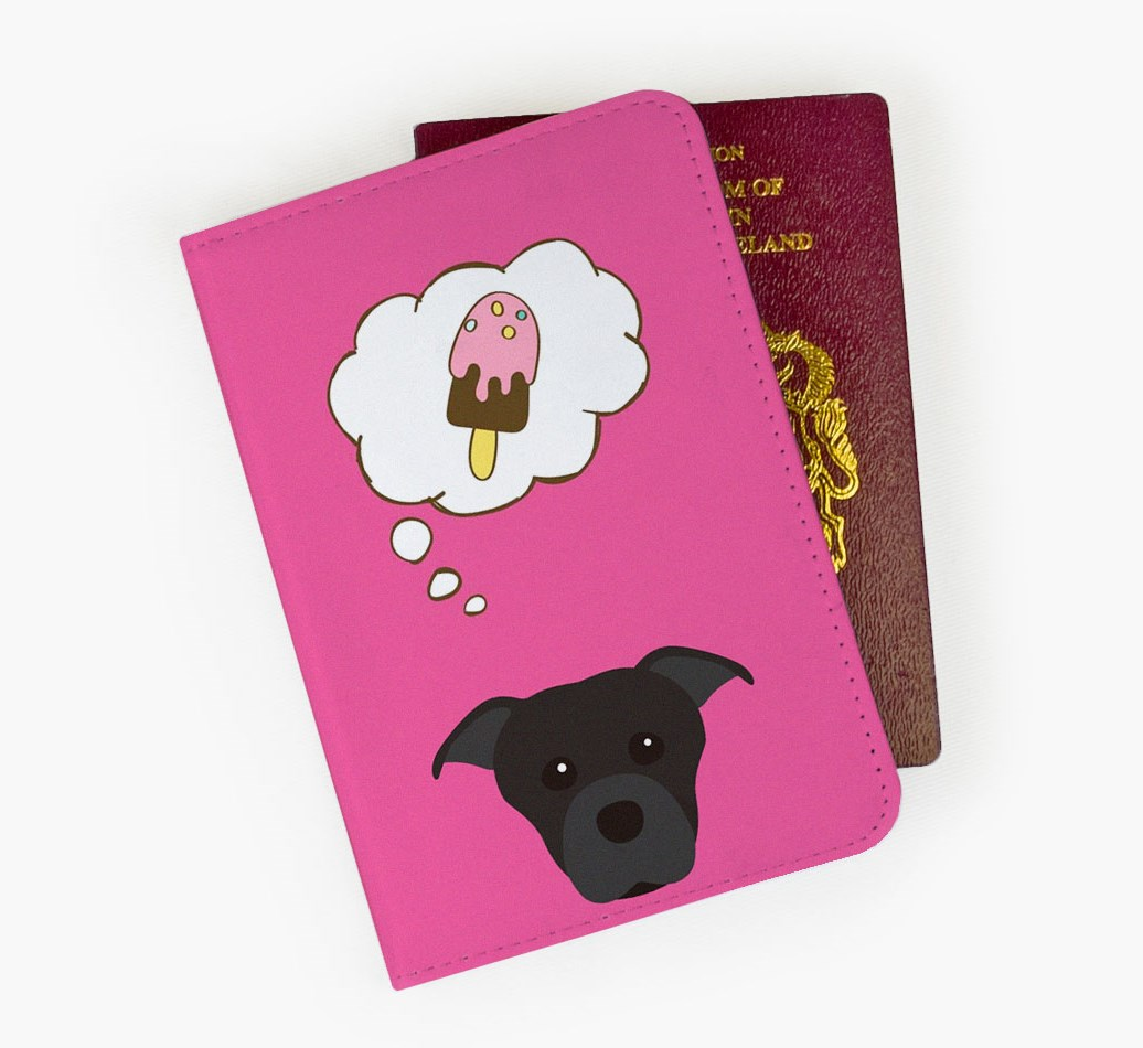 Staffordshire Bull Terrier Passport Cover Front