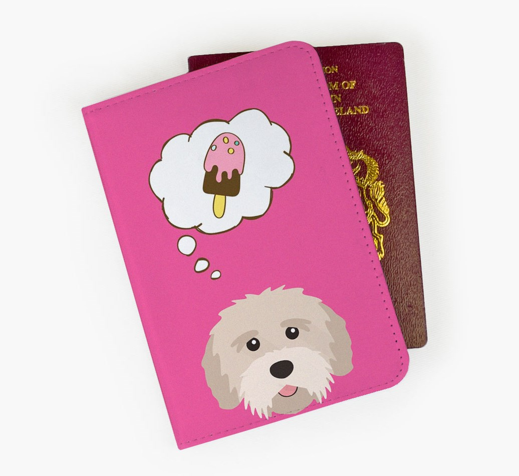 Tibetan Terrier Passport Cover Front