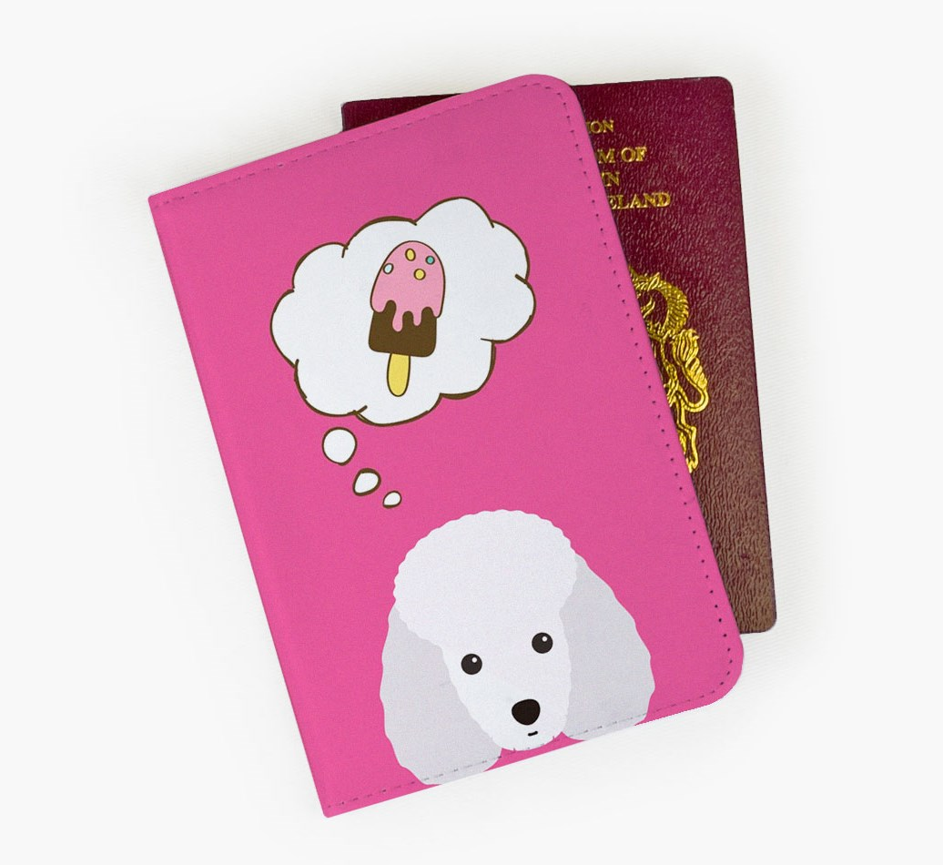 Toy Poodle Passport Cover Front