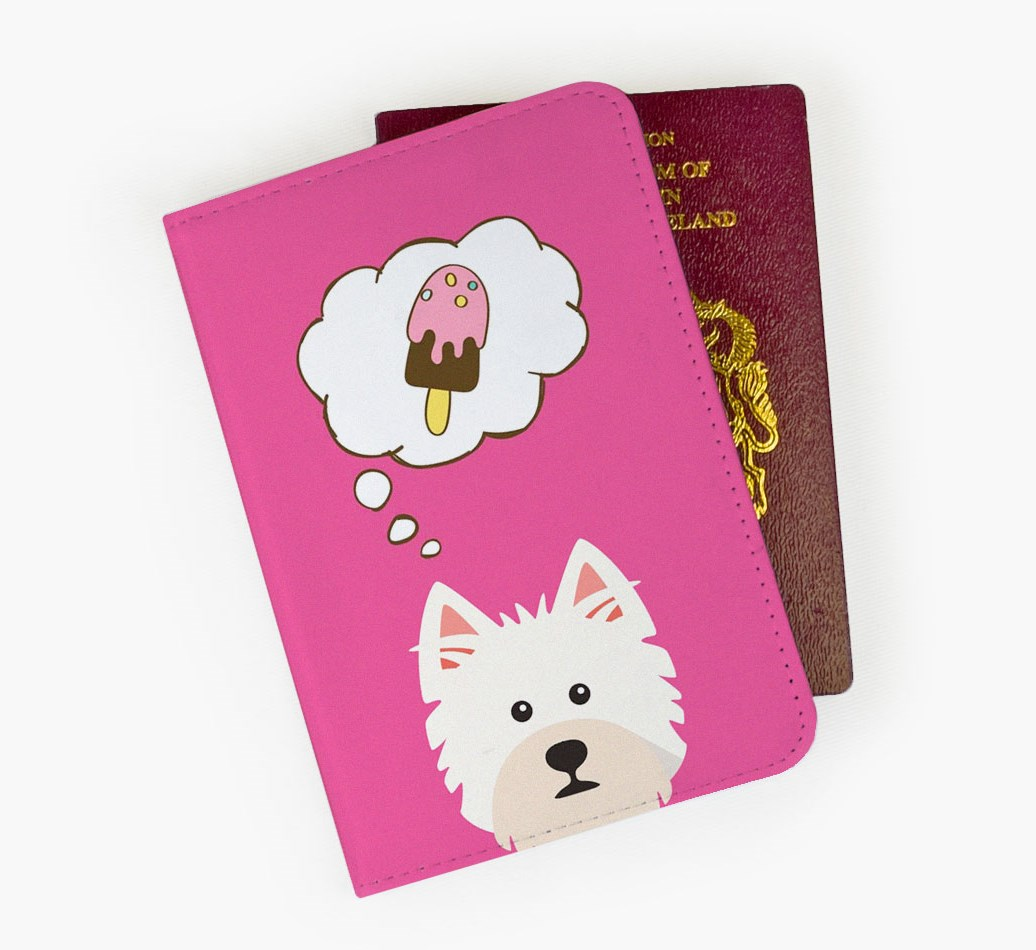 West Highland White Terrier Passport Cover Front