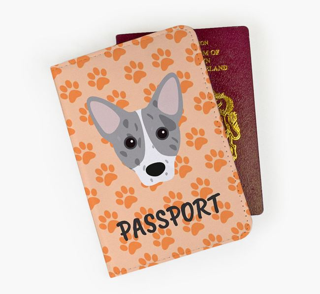 Passport Cover with Cojack Icon on Paw Prints