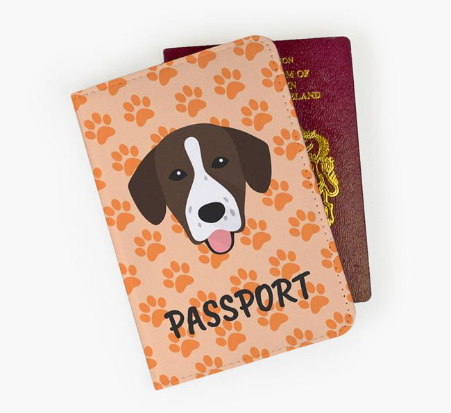 Passport Cover with Springador Icon on Paw Prints