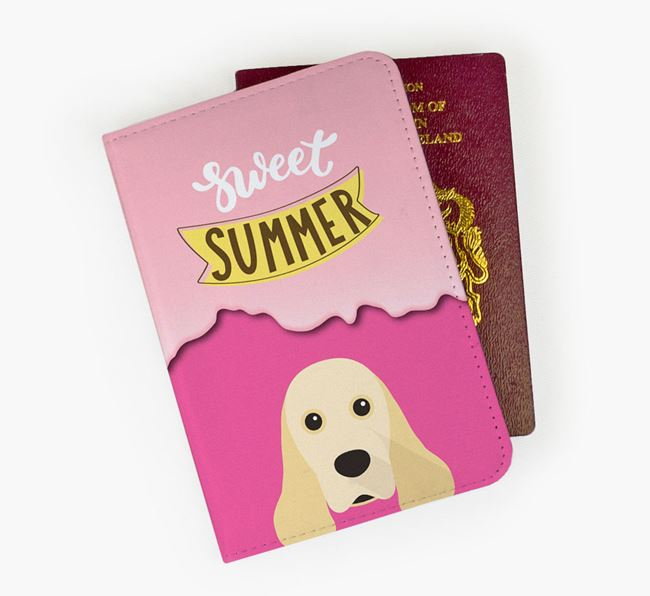 Passport Cover 'Sweet Summer' with American Cocker Spaniel Icon