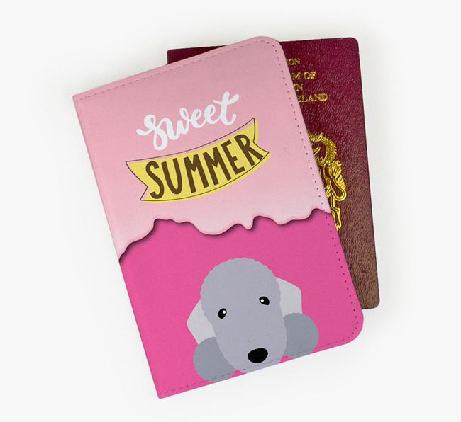 Passport Cover 'Sweet Summer' with Bedlington Terrier Icon
