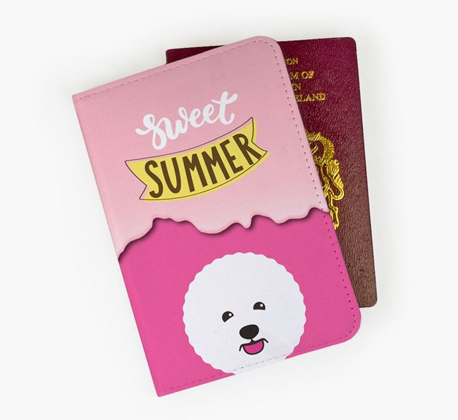 Passport Cover 'Sweet Summer' with Bichon Frise Icon