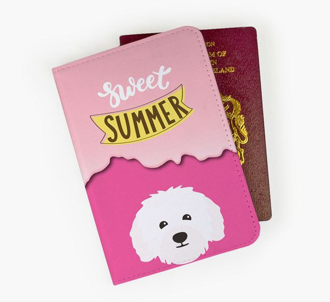 Passport Cover 'Sweet Summer' with Bolognese Icon