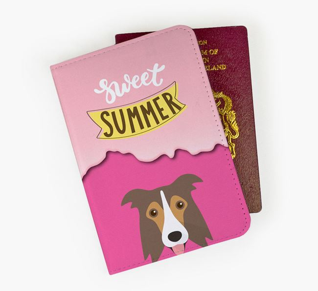 Passport Cover 'Sweet Summer' with Border Collie Icon