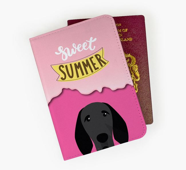 Passport Cover 'Sweet Summer' with Braque D'Auvergne Icon