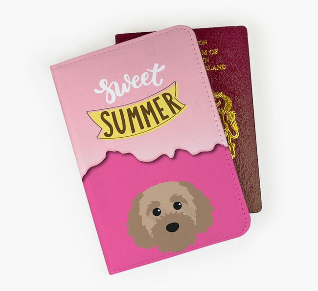 Passport Cover 'Sweet Summer' with Cavapoochon Icon