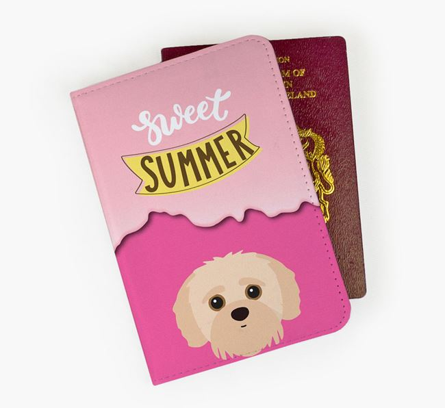 Passport Cover 'Sweet Summer' with Jack-A-Poo Icon