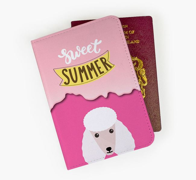 Passport Cover 'Sweet Summer' with Poodle Icon