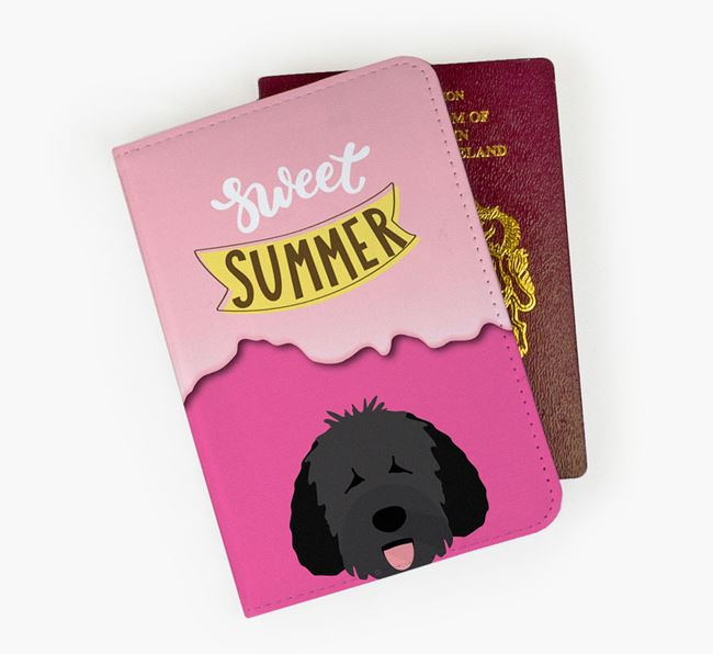 Passport Cover 'Sweet Summer' with Dog Icon