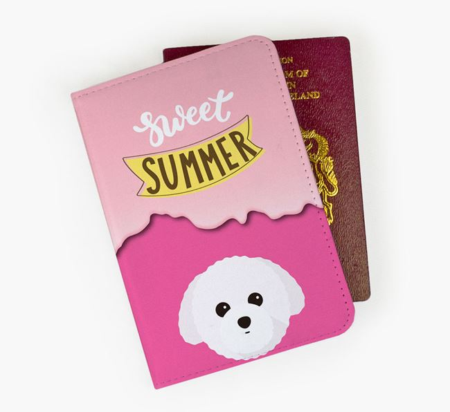 Passport Cover 'Sweet Summer' with Toy Poodle Icon
