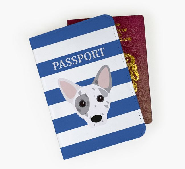 Passport Cover with Cojack Icon on Stripes