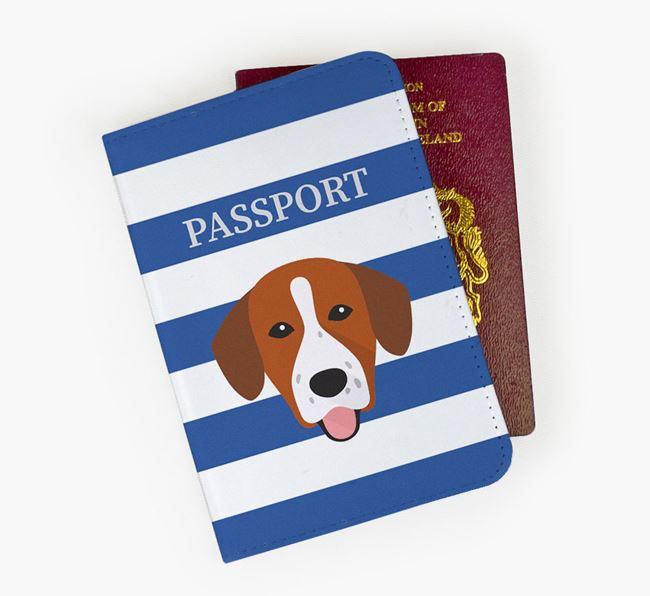Passport Cover with Springador Icon on Stripes