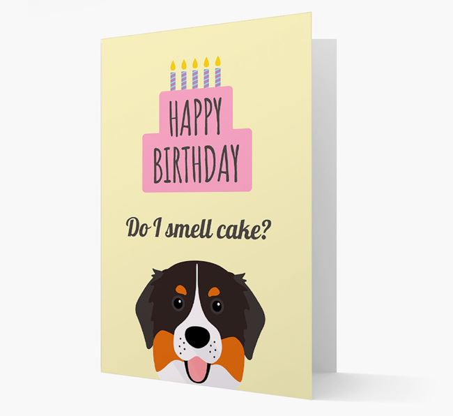 Card 'Do I smell cake?' with Bernese Icon