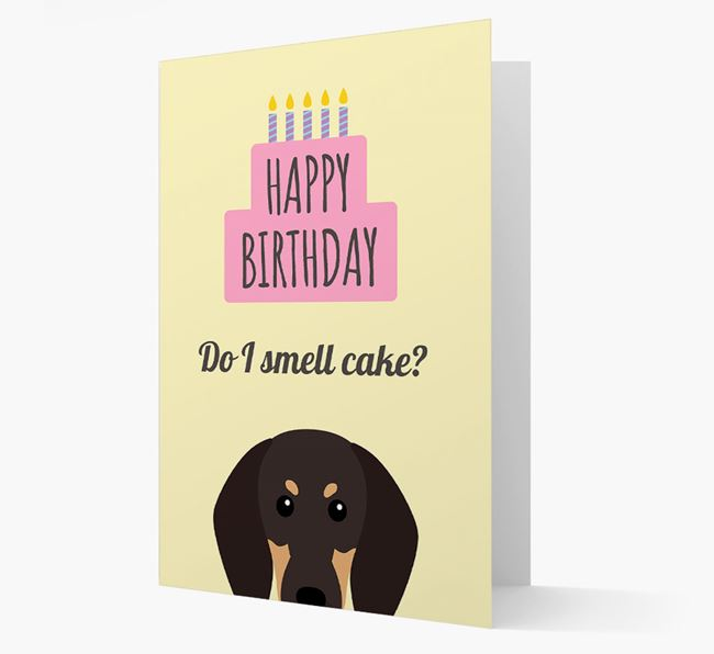 Card 'Do I smell cake?' with Coonhound Icon