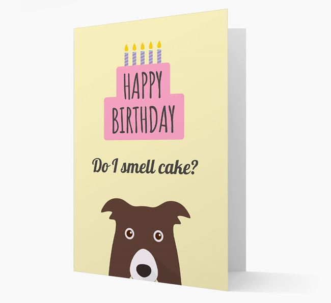Card 'Do I smell cake?' with Border Collie Icon