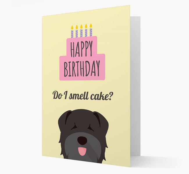 Card 'Do I smell cake?' with Bouvier Des Flandres Icon