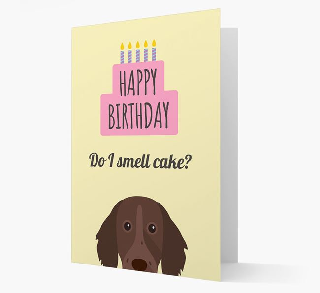 Card 'Do I smell cake?' with Longhaired Pointer Icon