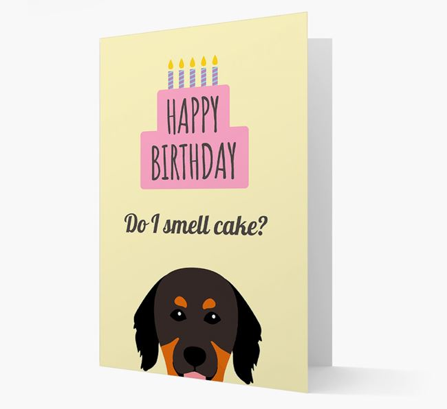 Card 'Do I smell cake?' with Hovawart Icon