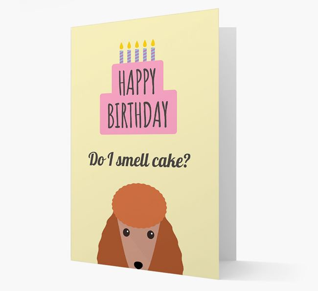 Card 'Do I smell cake?' with Poodle Icon