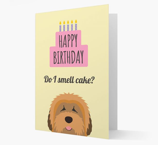 Card 'Do I smell cake?' with Tibetan Terrier Icon