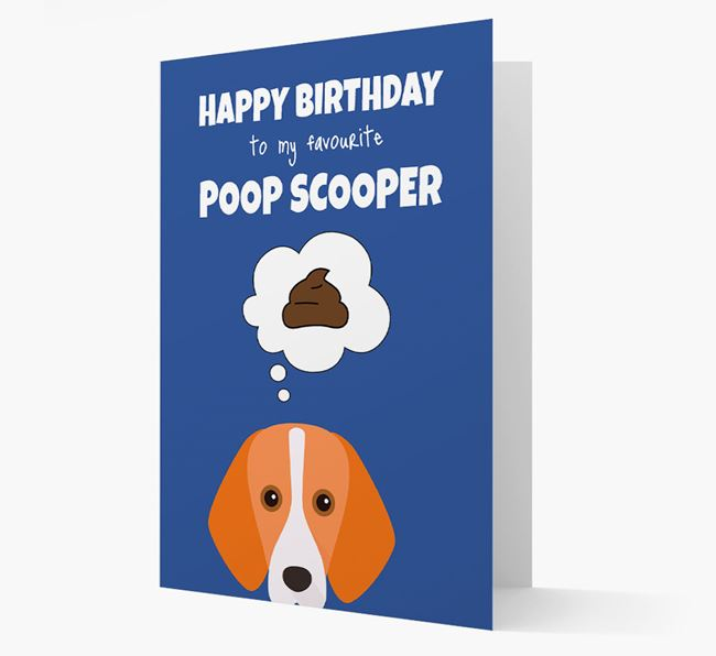 Card 'Poop Scooper' with Foxhound Icon