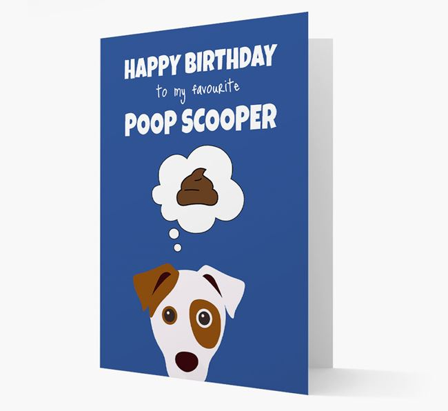 Card 'Poop Scooper' with Dog Icon
