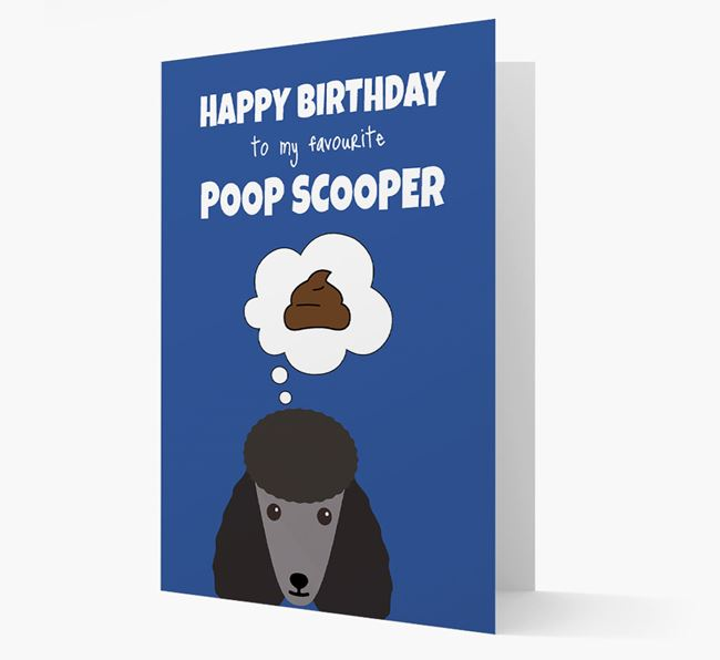 Card 'Poop Scooper' with Poodle Icon