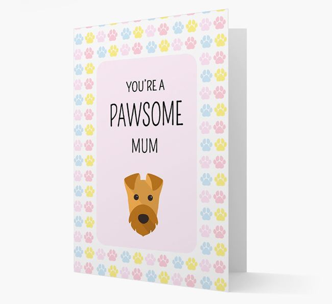 'You're a Pawsome Mum' Card with Airedale Terrier Icon