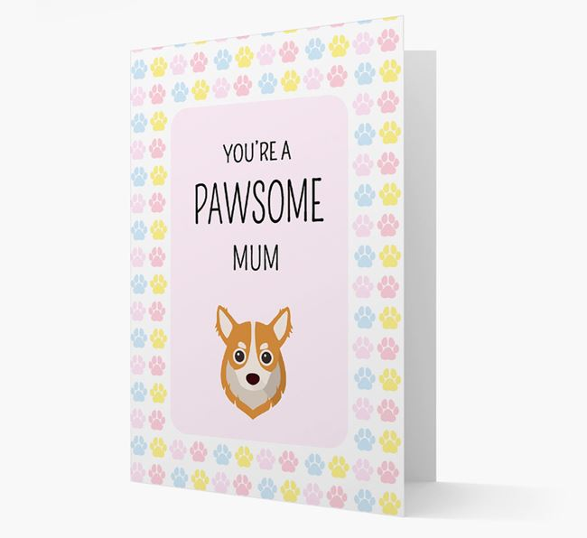 'You're a Pawsome Mum' Card with Chihuahua Icon