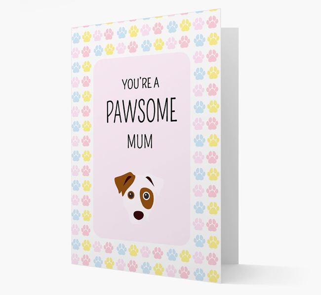 'You're a Pawsome Mum' Card with Dog Icon