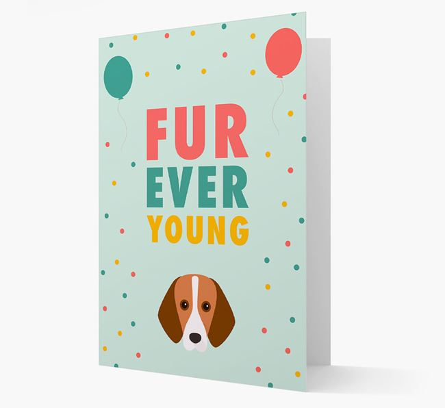 'Fur-Ever Young' Card with Foxhound icon