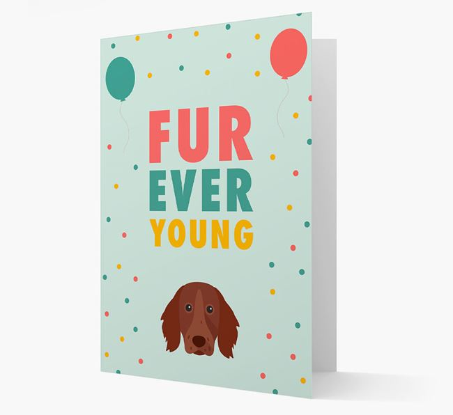 'Fur-Ever Young' Card with German Longhaired Pointer icon