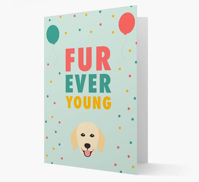 'Fur-Ever Young' Card with Hovawart icon