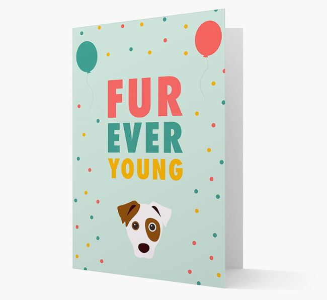 'Fur-Ever Young' Card with Dog icon