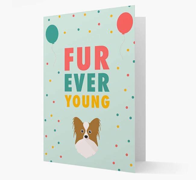 'Fur-Ever Young' Card with Papillon icon