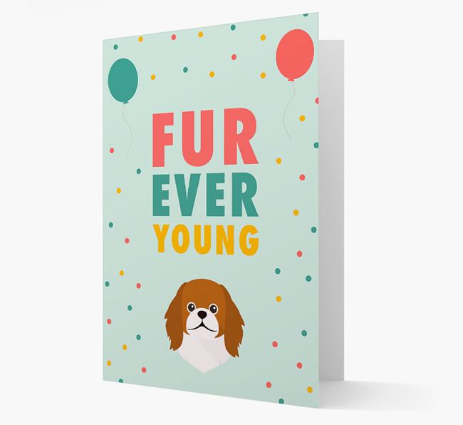 'Fur-Ever Young' Card with Pekingese icon