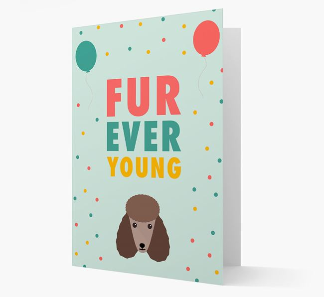 'Fur-Ever Young' Card with Poodle icon